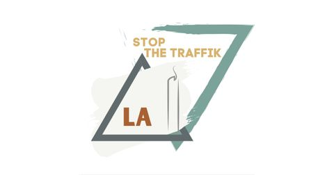 LA STOP THE TRAFFIK Logo