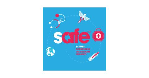 SAFE (Scrubs Addressing the Firearm Epidemic) Logo